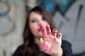 Halloween Make-Up Inspiration: femininer Grunge Look