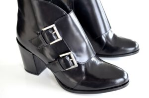 the perfect black leather booties