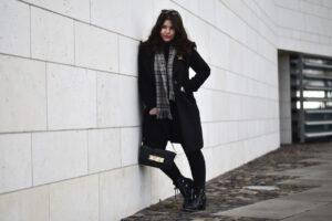 Outfit: Klassischer Winterlook und Schwarzmalerei