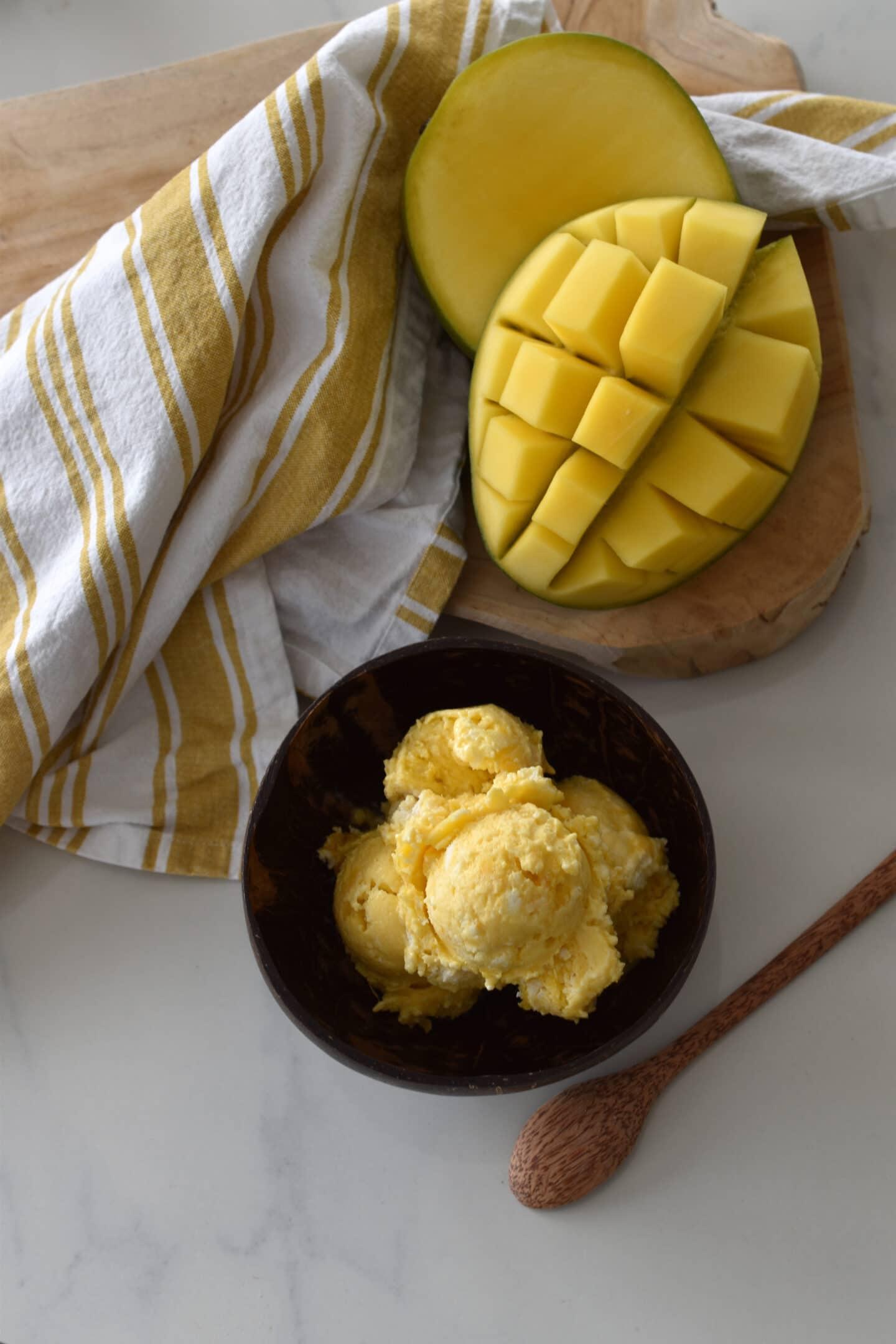 Frozen Yoghurt Mango Sorbet