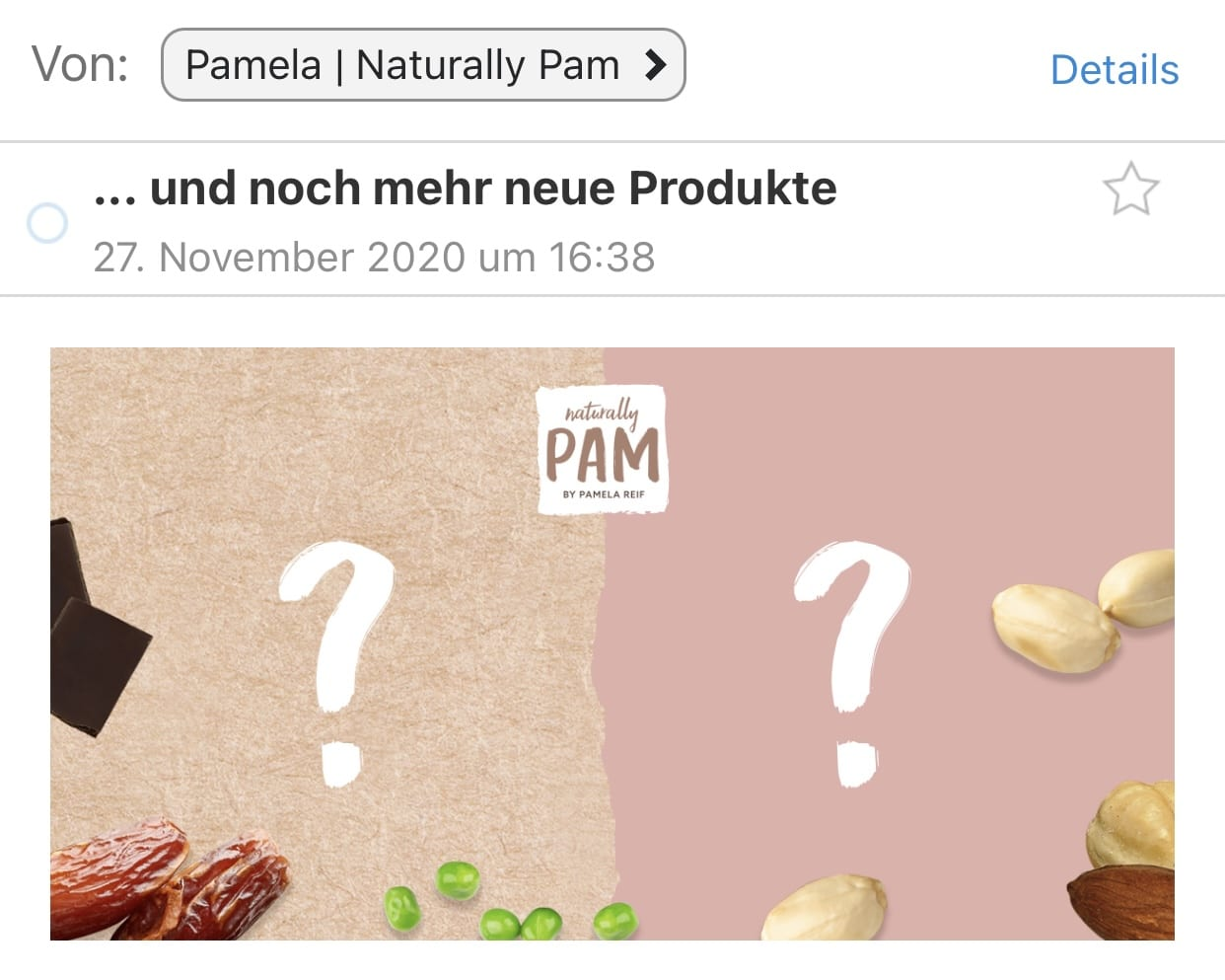 Naturally Pam Produkte