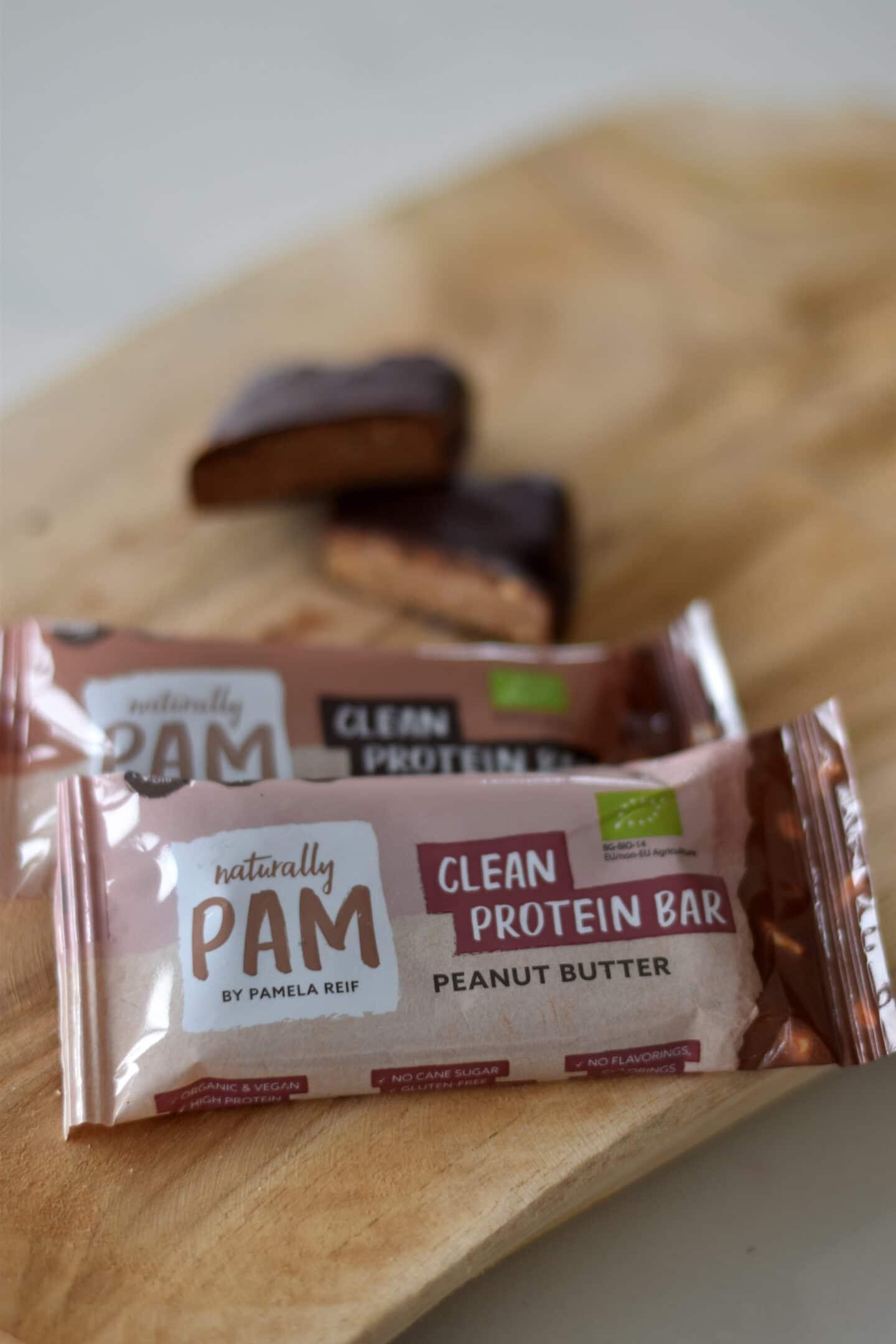 Clean Protein Bar - die veganen Proteinriegel von Naturally Pam