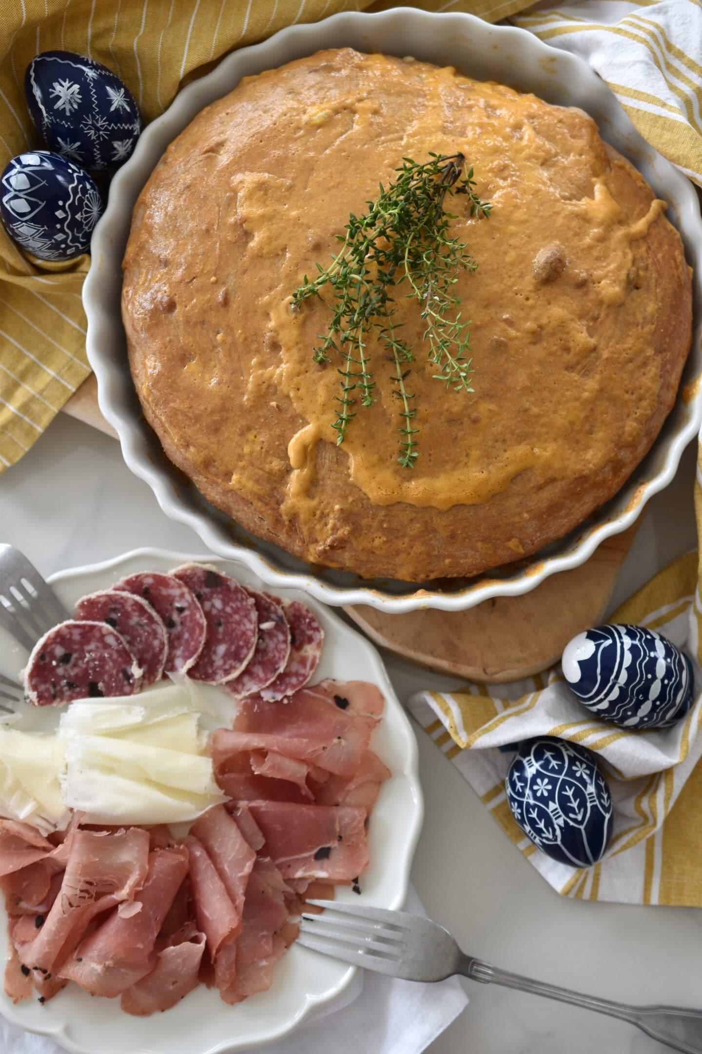 Pogaca - Rezept für das Balkan Brot mit Joghurt an Ostern
