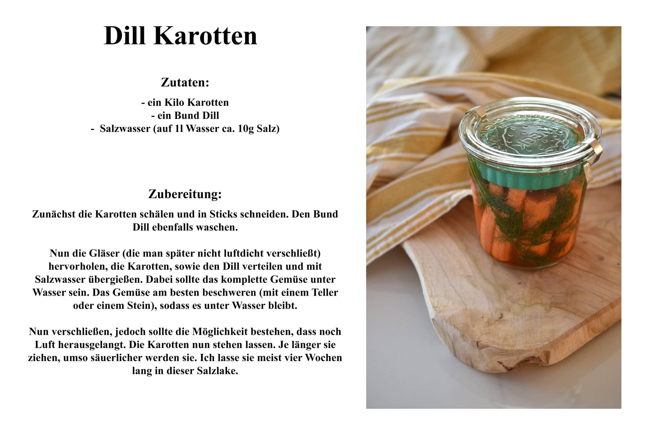 Rezept Dill Karotten