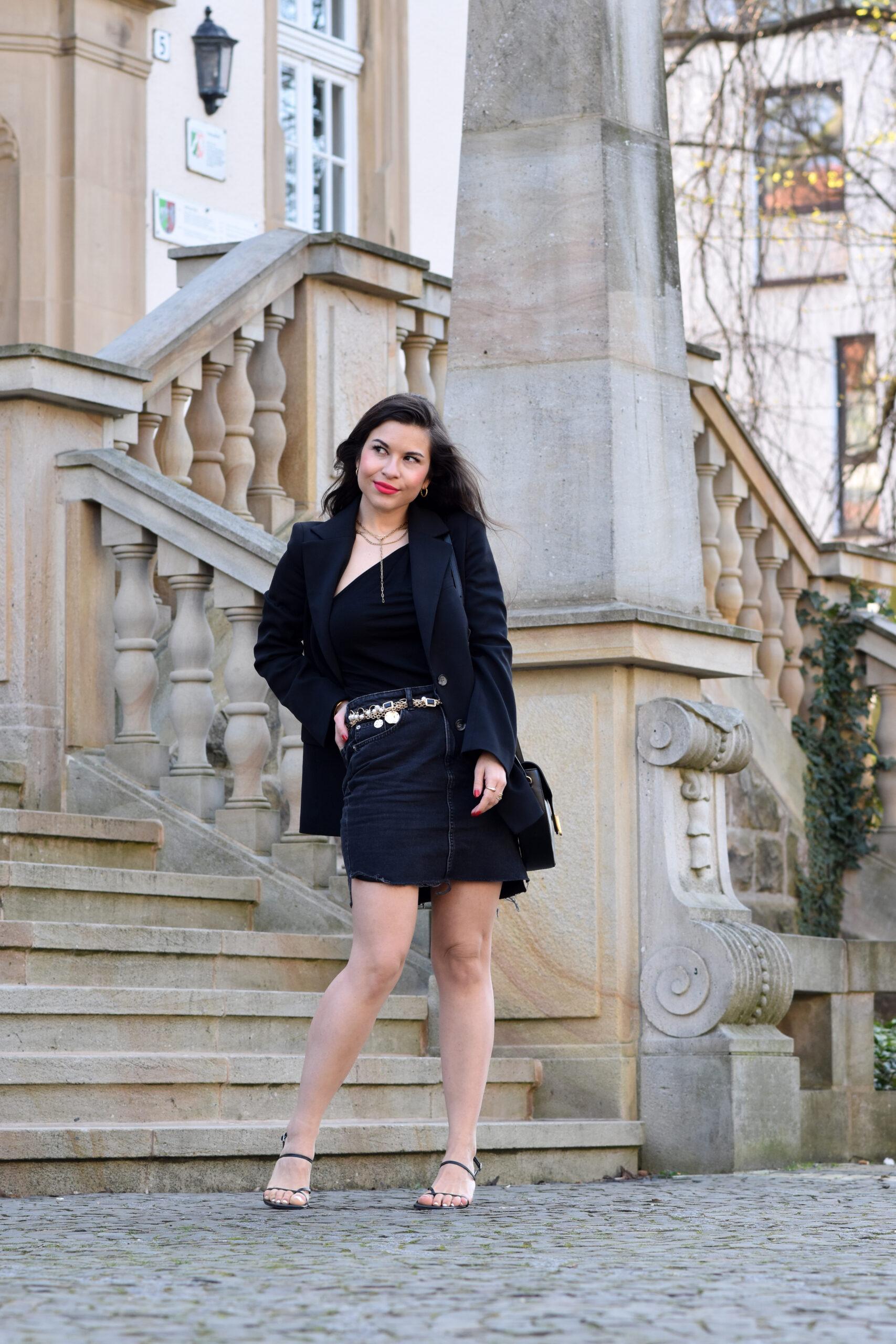 Outfit mit Wollblazer