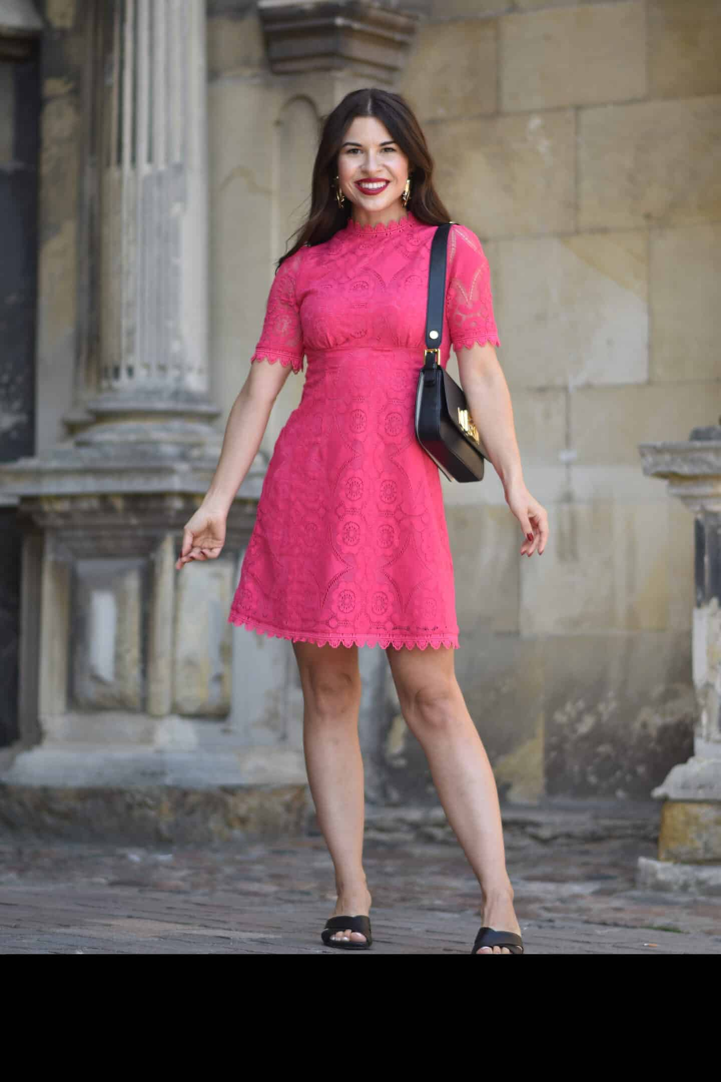 Eleganter Look in Pink - das Cocktailkleid aus Baumwolle