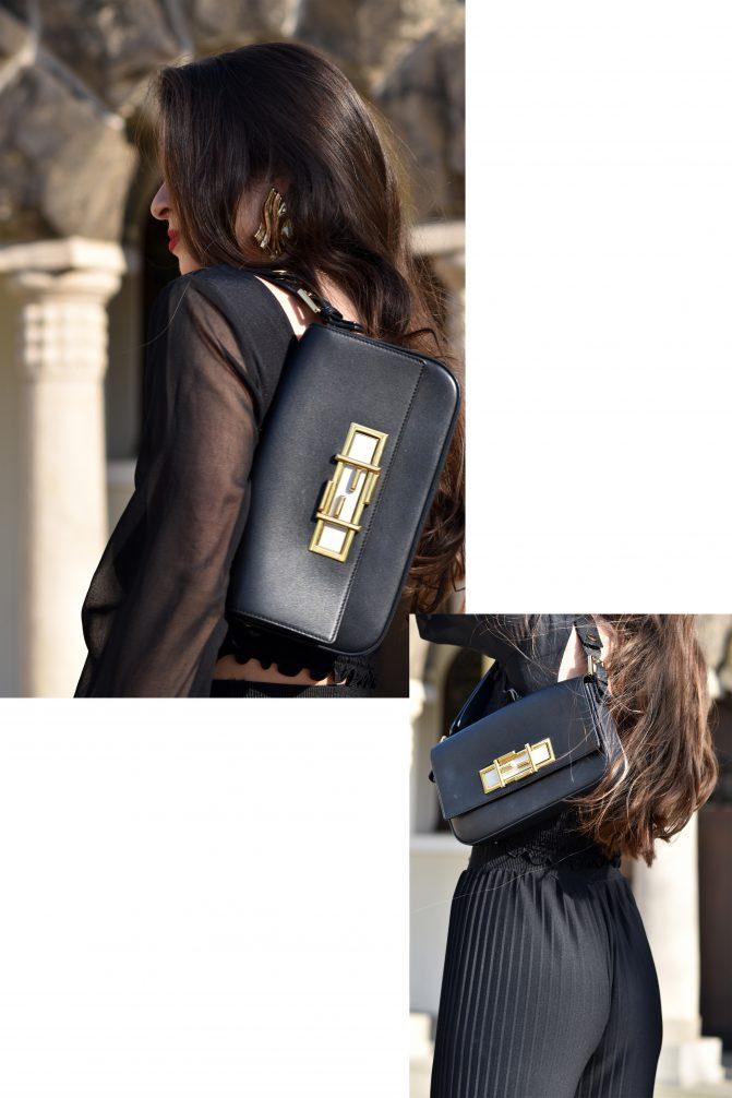 Palazzo Hose trifft auf Jasmin-Bluse mit goldenen Details Ferdi