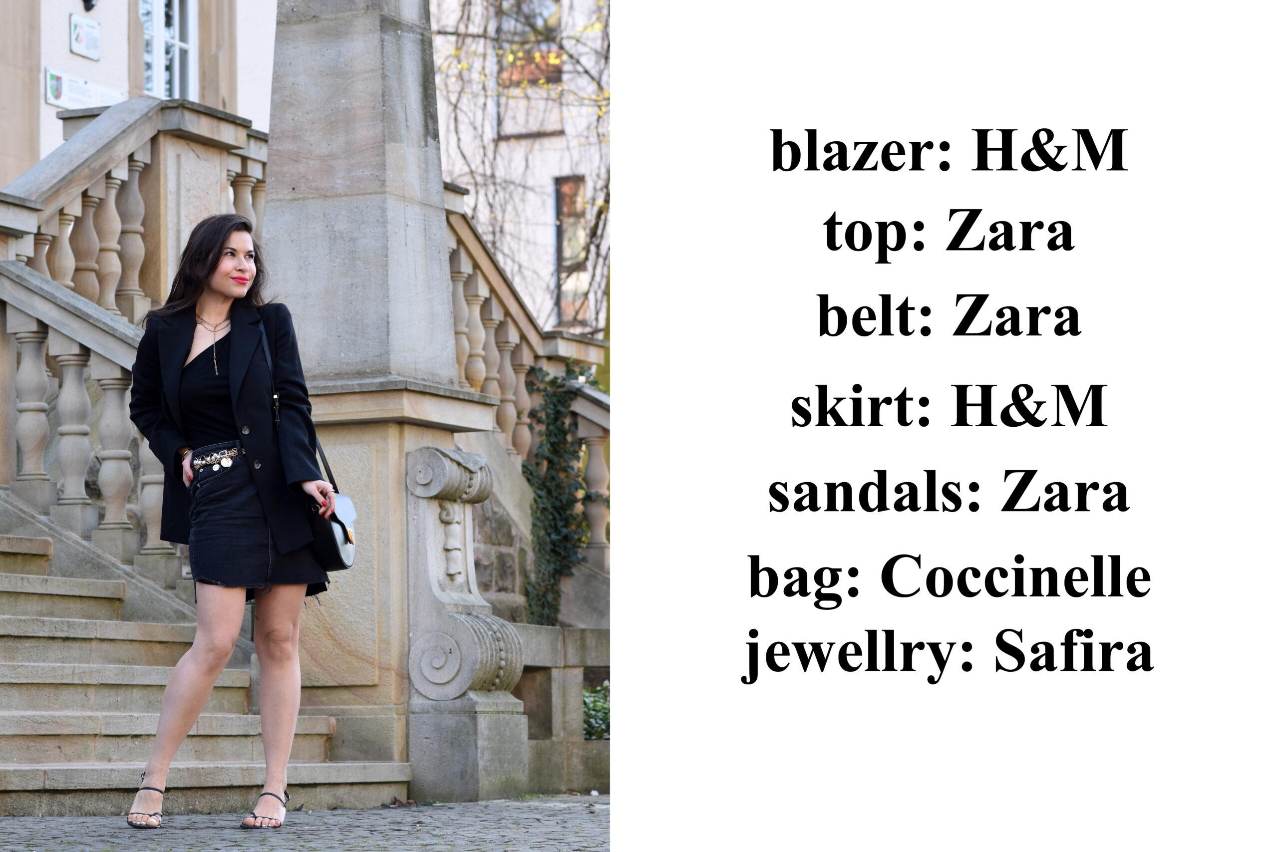 Outfit mit Wollblazer Details