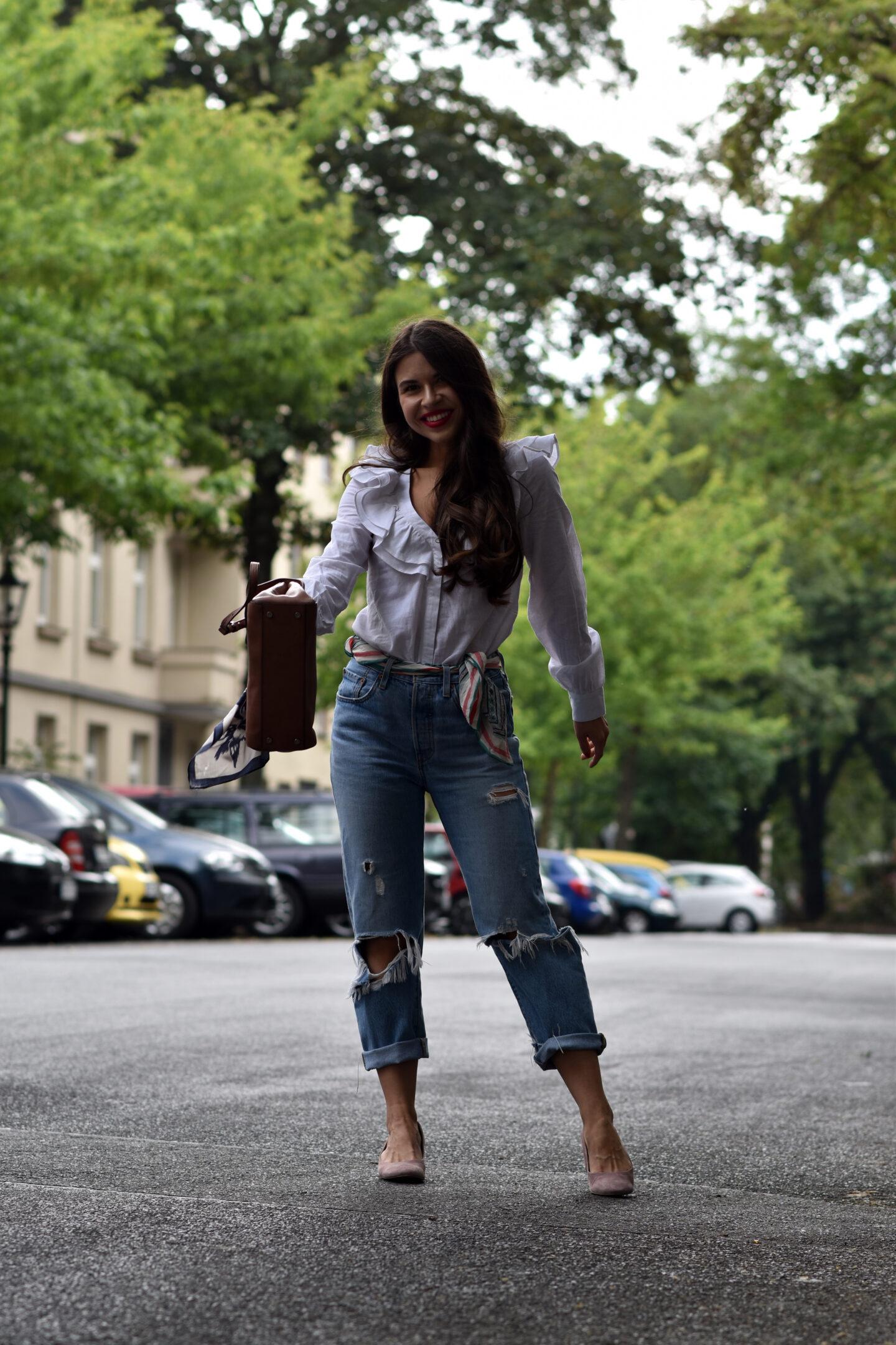 Verspielter Streetstyle Bluse mit Volants