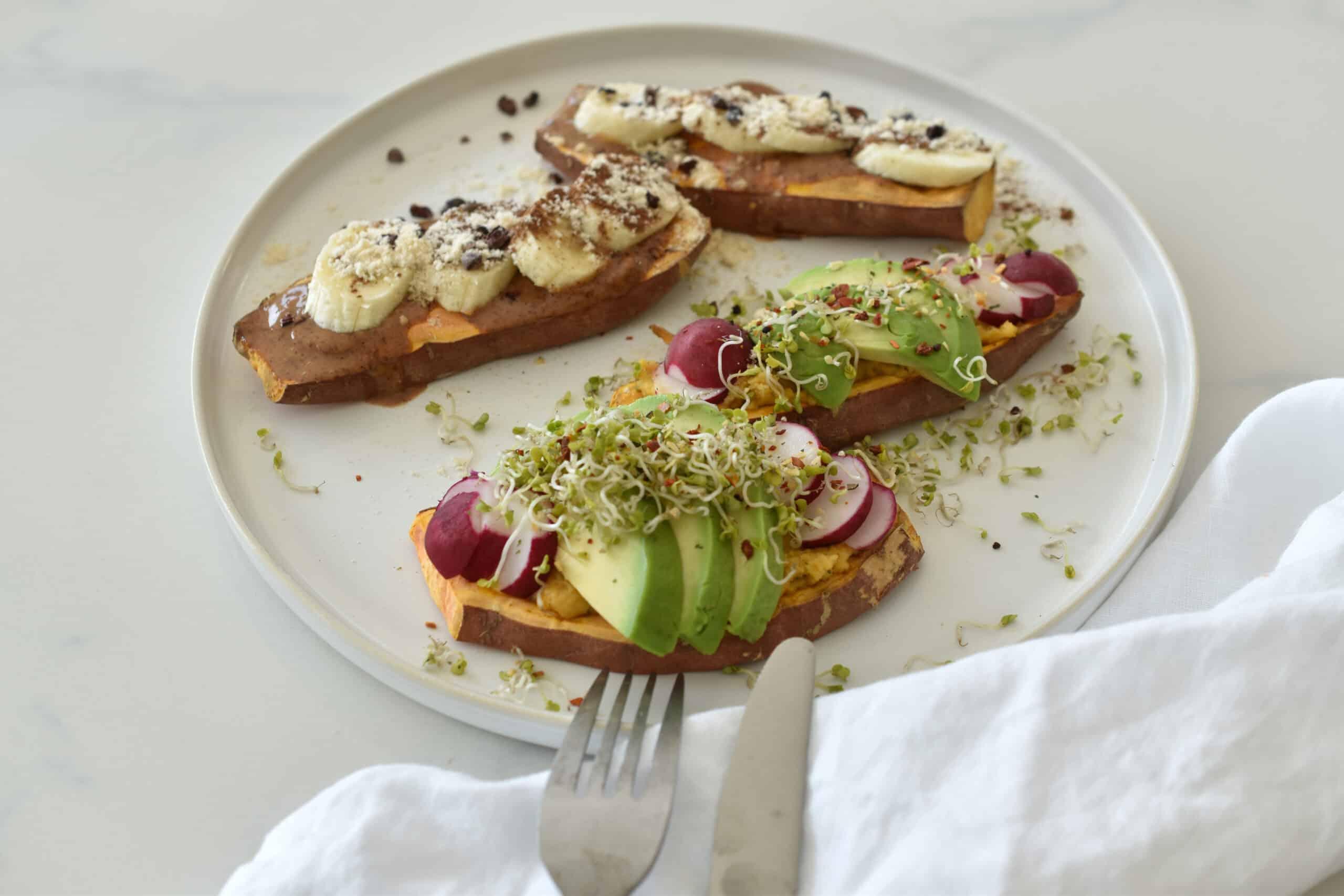 Süßkartoffel Toasts süß & herzhaft - der vegane & glutenfreie Food Trend